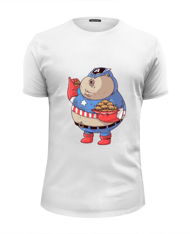Футболка Wearcraft Premium Slim Fit Printio Fat captain america футболка классическая printio капитан америка captain america