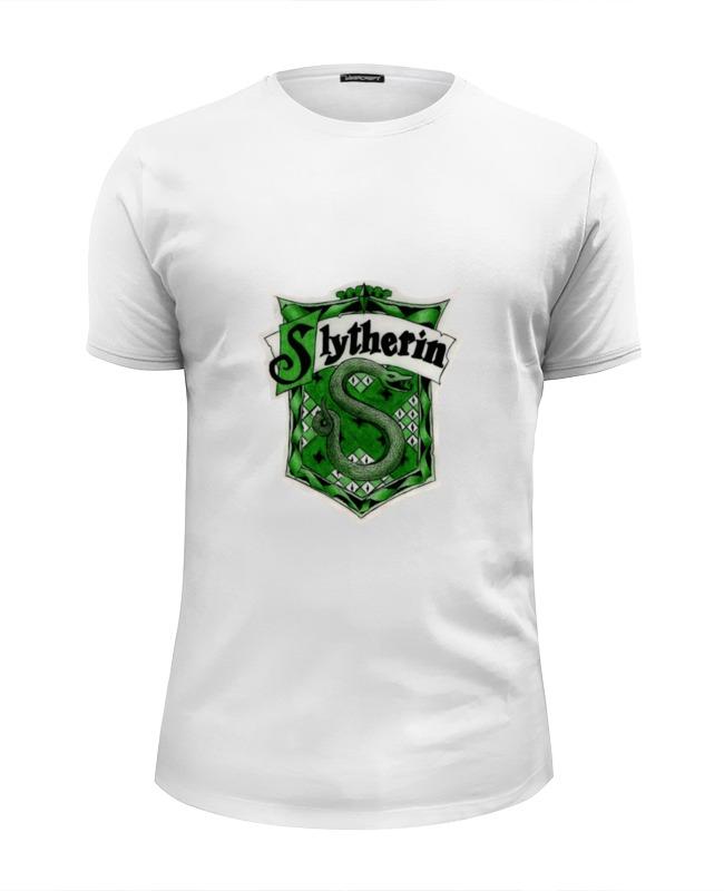 Футболка Wearcraft Premium Slim Fit Printio Slytherin quidditch team harry potter golden snitch watch pocket watch necklace steampunk quidditch pocket clock