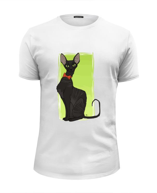 Футболка Wearcraft Premium Slim Fit Printio Чёрная кошка