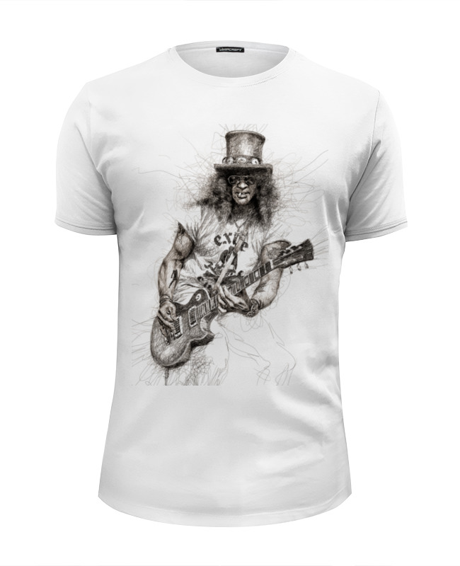 Футболка Wearcraft Premium Slim Fit Printio Slash (guns n' roses) бордюр keros ceramica varna cen roses 5х50