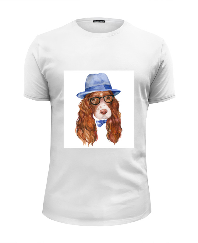 Футболка Wearcraft Premium Slim Fit Printio Собака хипстер футболка классическая printio акварельная новогодняя забавная собака