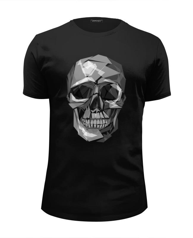 Футболка Wearcraft Premium Slim Fit Printio Геометрический череп футболка wearcraft premium slim fit printio череп