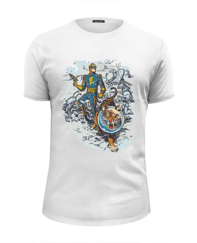 Футболка Wearcraft Premium Slim Fit Printio Calvin, the spiffy spaceman футболка классическая printio calvin the spiffy spaceman