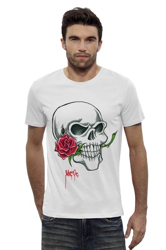 Футболка Wearcraft Premium Slim Fit Printio Skull #3  tom-s_design футболка wearcraft premium slim fit printio война никогда не меняется