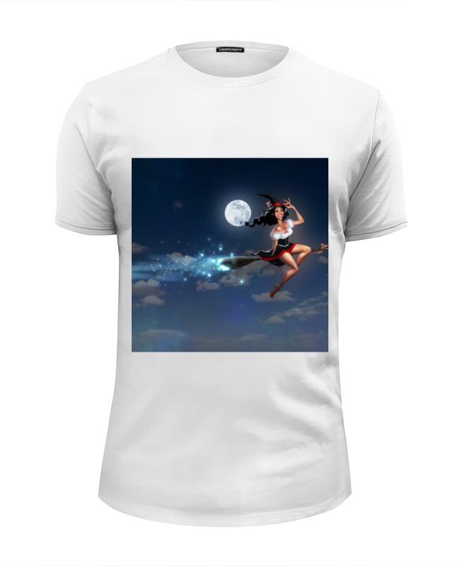 Фото - Футболка Wearcraft Premium Slim Fit Printio Ведьма на метле футболка с полной запечаткой женская printio ведьма на метле