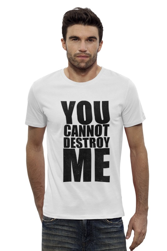 Футболка Wearcraft Premium Slim Fit Printio You cannot destroy me футболка стрэйч printio you cannot destroy me