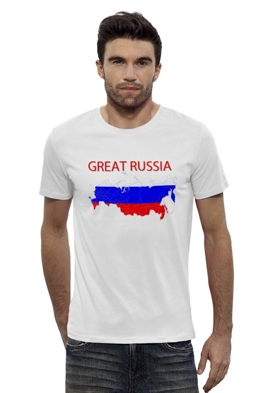 Футболка Wearcraft Premium Slim Fit Printio Great russia 9 футболка wearcraft premium slim fit printio россия russia