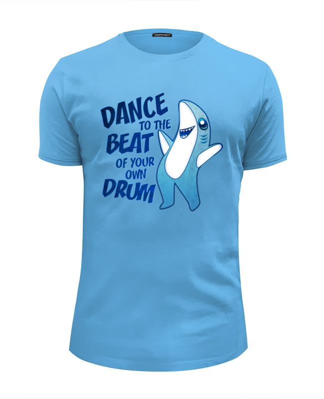 Футболка Wearcraft Premium Slim Fit Printio Танцующая акула