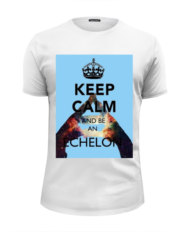 Футболка Wearcraft Premium Slim Fit Printio Keep calm and be an echelon why should i bother to keep fit