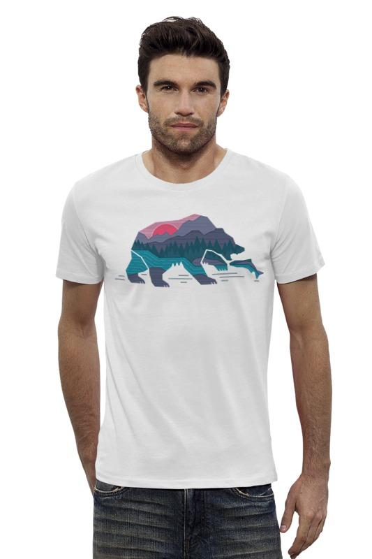 Футболка Wearcraft Premium Slim Fit Printio Медведь на рыбалке футболка wearcraft premium slim fit printio верхом на облаке