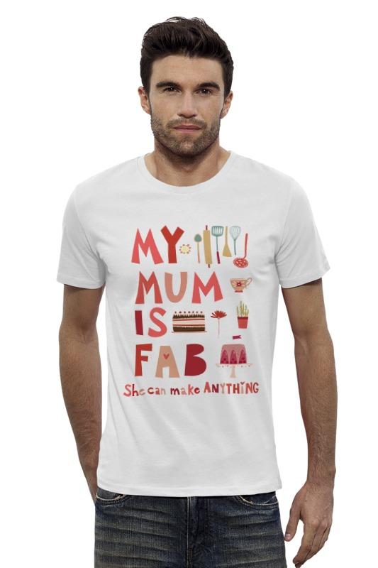 Футболка Wearcraft Premium Slim Fit Printio Моя мама потрясающая (my mum is fab) парные 3d пазлы где моя мама 15 элементов