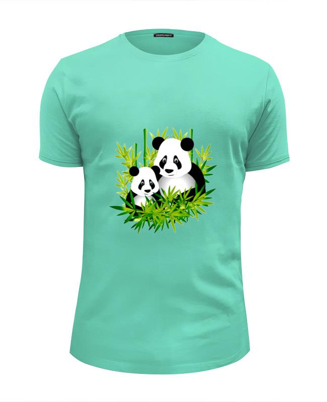 Футболка Wearcraft Premium Slim Fit Printio Панды майка print bar панды