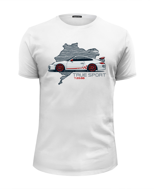 Футболка Wearcraft Premium Slim Fit Printio Porsche 911 gt3 rs