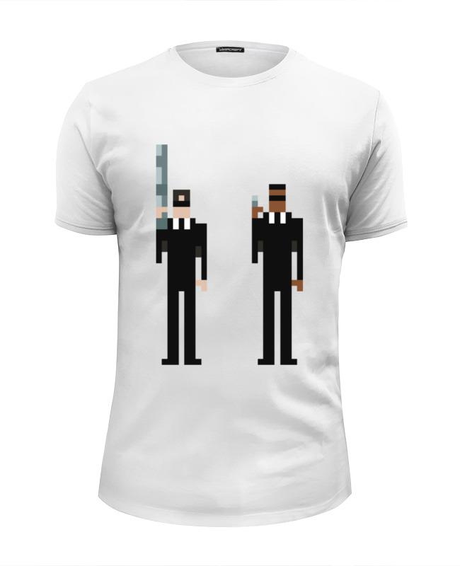Футболка Wearcraft Premium Slim Fit Printio Люди в чёрном футболка wearcraft premium slim fit printio люди икс