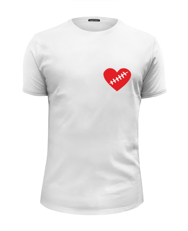 все цены на Футболка Wearcraft Premium Slim Fit Printio Heart онлайн
