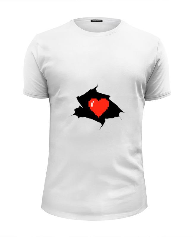 Футболка Wearcraft Premium Slim Fit Printio Пиксельное сердце (8-бит) футболка wearcraft premium printio губы 8 бит