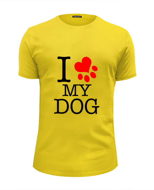 Футболка Wearcraft Premium Slim Fit Printio I love my dog футболка wearcraft premium slim fit printio i love navalny