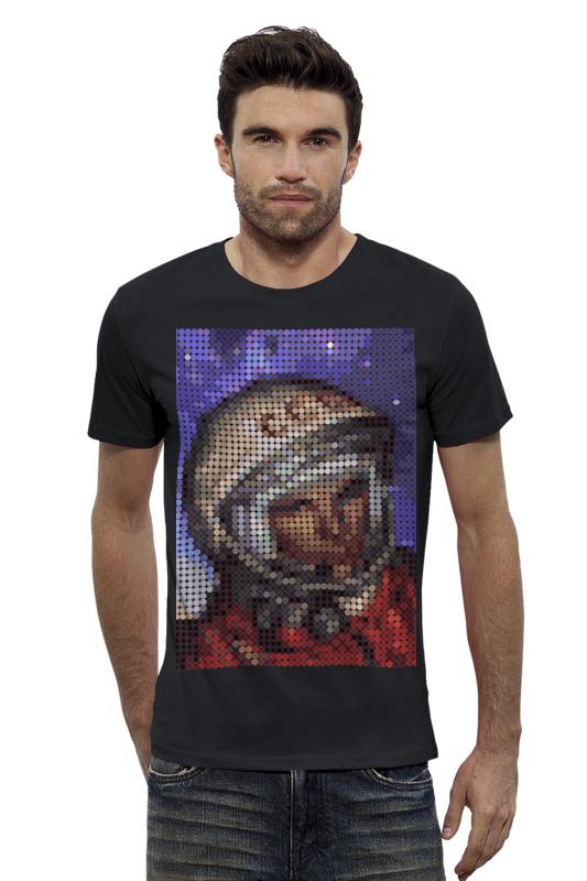 Футболка Wearcraft Premium Slim Fit Printio Юрий гагарин футболка wearcraft premium slim fit printio кит в банке