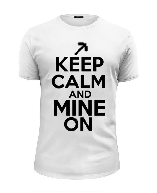 Футболка Wearcraft Premium Slim Fit Printio майнкрафт (minecraft) футболка wearcraft premium slim fit printio like a boss майнкрафт