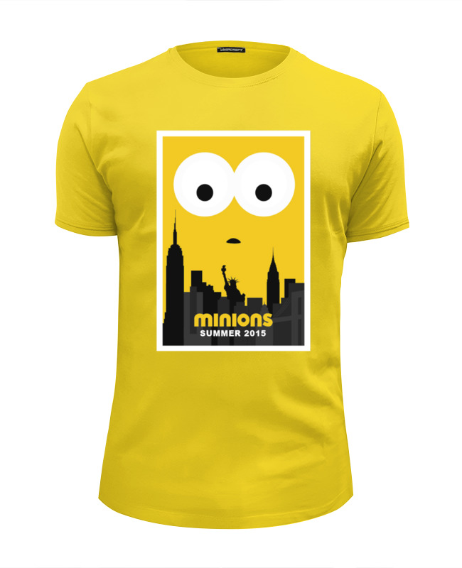 Футболка Wearcraft Premium Slim Fit Printio Minions summer 2015 2015 wat498