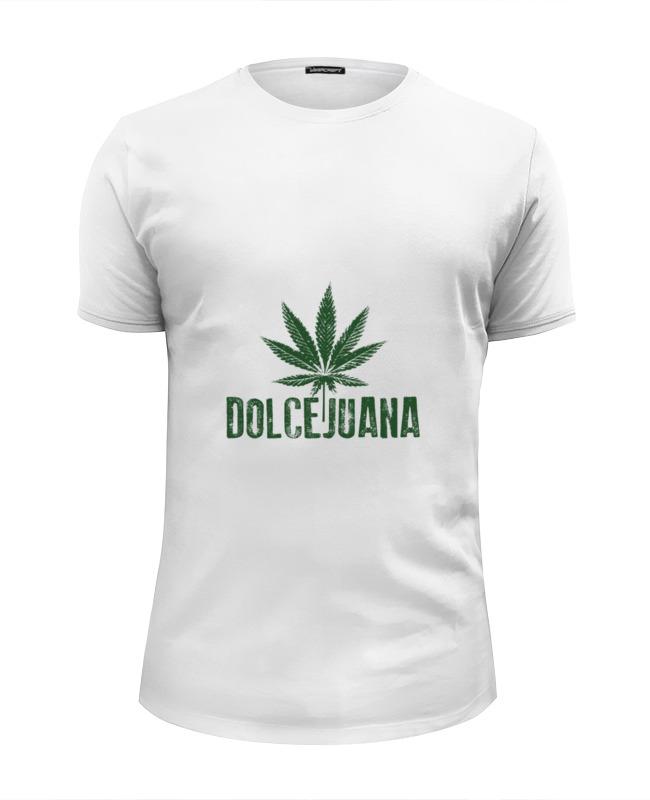 Футболка Wearcraft Premium Slim Fit Printio Марихуана дольчехуана handbook of cannabis