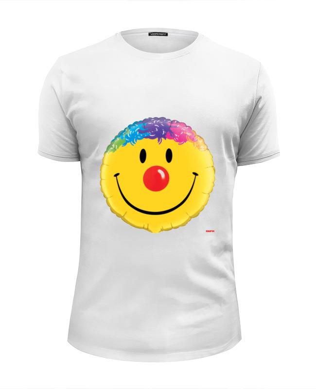 Футболка Wearcraft Premium Slim Fit Printio Колобок улыбающийся. смех радость. smile футболка классическая printio колобок улыбающийся смех радость smile