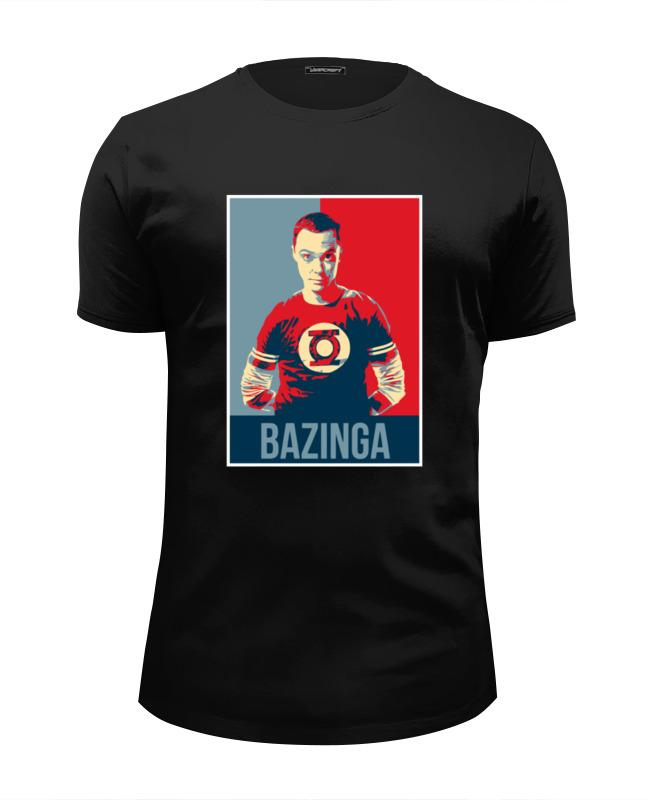 Футболка Wearcraft Premium Slim Fit Printio Bazinga (шелдон купер) футболка wearcraft premium slim fit printio bazinga
