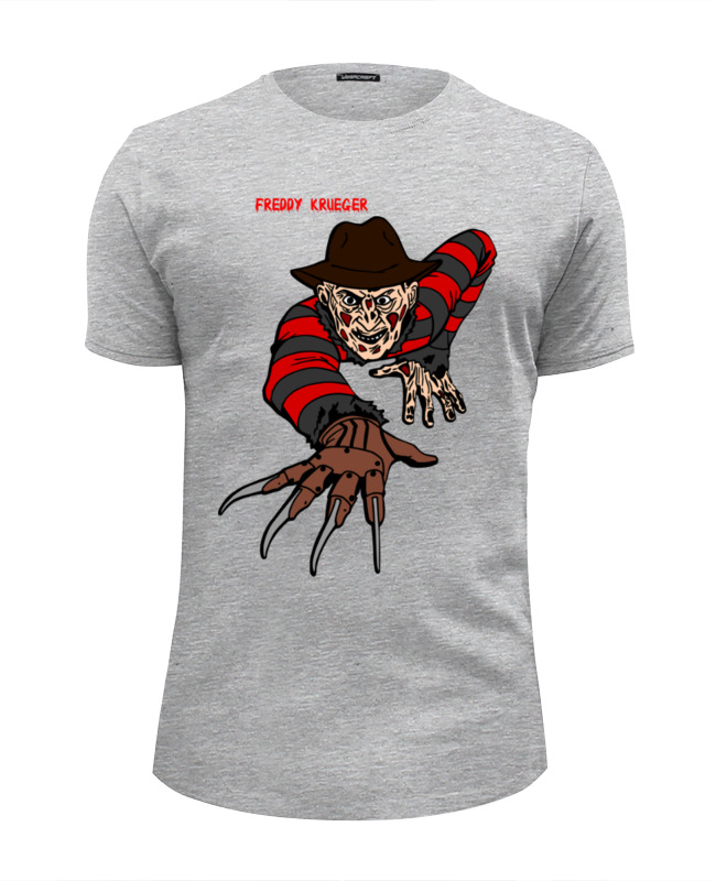 Футболка Wearcraft Premium Slim Fit Printio Freddy krueger футболка стрэйч printio freddy krueger