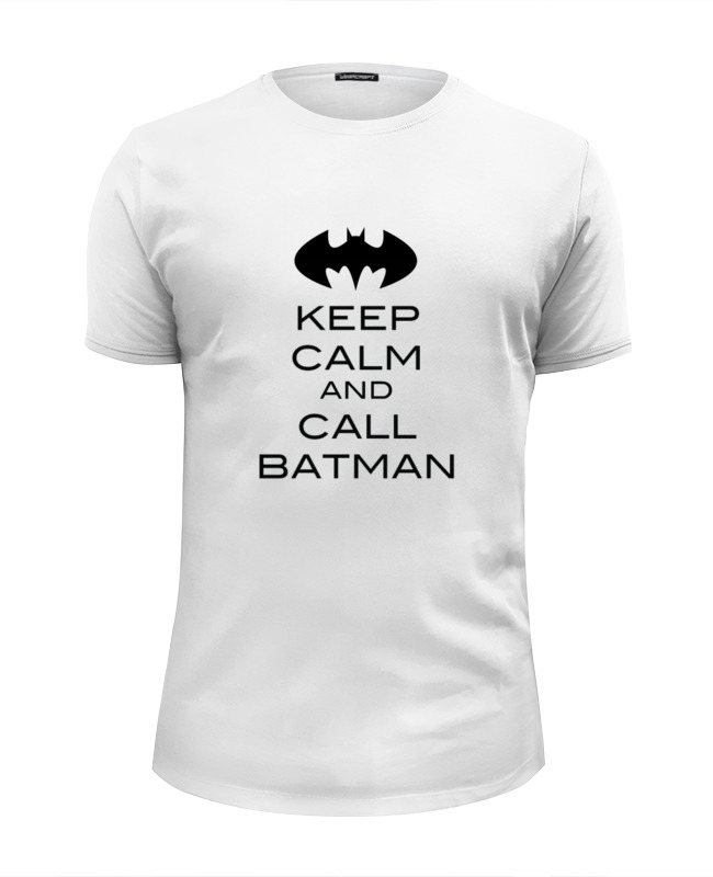 Футболка Wearcraft Premium Slim Fit Printio Keep calm and call batman сумка printio keep calm and call batman