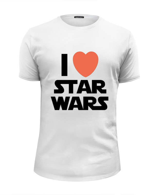 Футболка Wearcraft Premium Slim Fit Printio I love star wars футболка wearcraft premium slim fit printio i love navalny