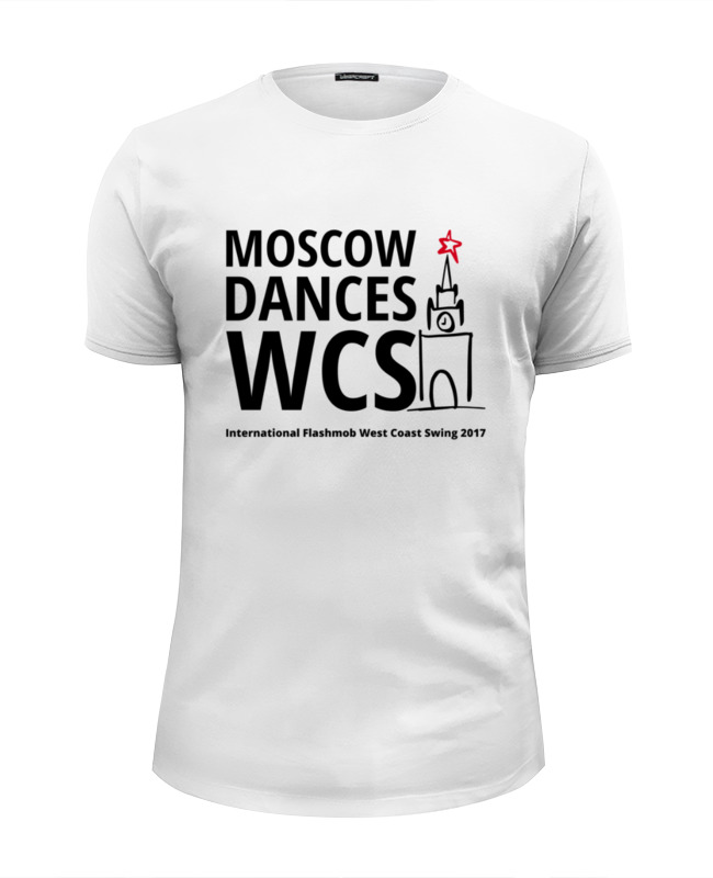 Футболка Wearcraft Premium Slim Fit Printio Moscow dances wcs (ifwcs 2017) лонгслив printio moscow dances wcs ifwcs 2017