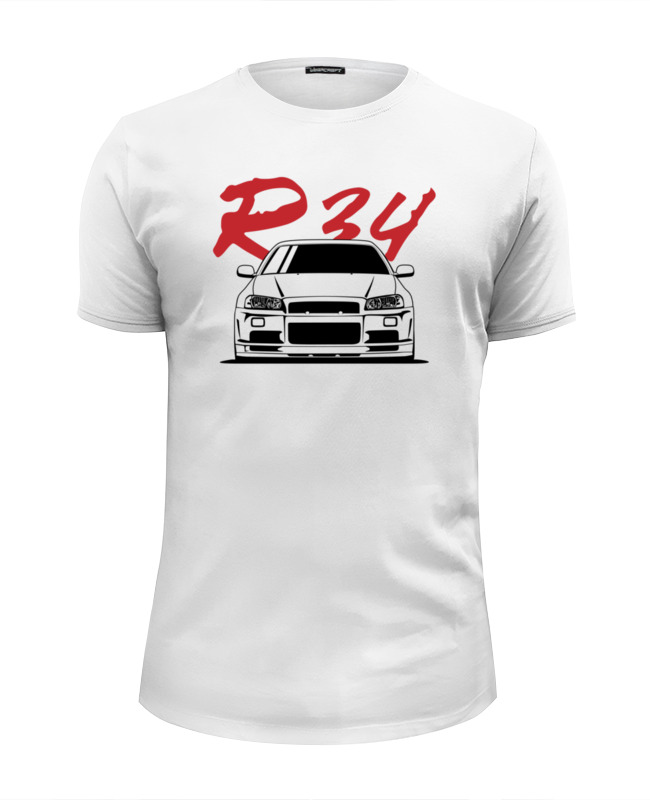 Футболка Wearcraft Premium Slim Fit Printio Nissan skyline r34