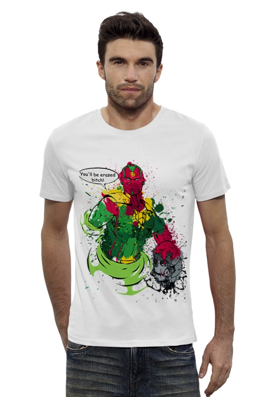 Футболка Wearcraft Premium Slim Fit Printio Vision-avengers футболка wearcraft premium slim fit printio avengers