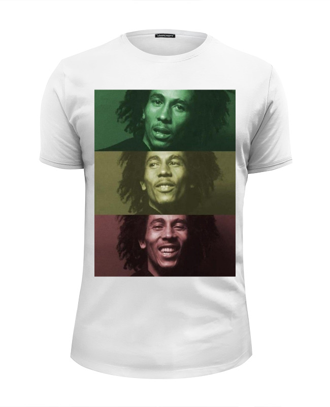 Футболка Wearcraft Premium Slim Fit Printio Bob marley taylormade golf