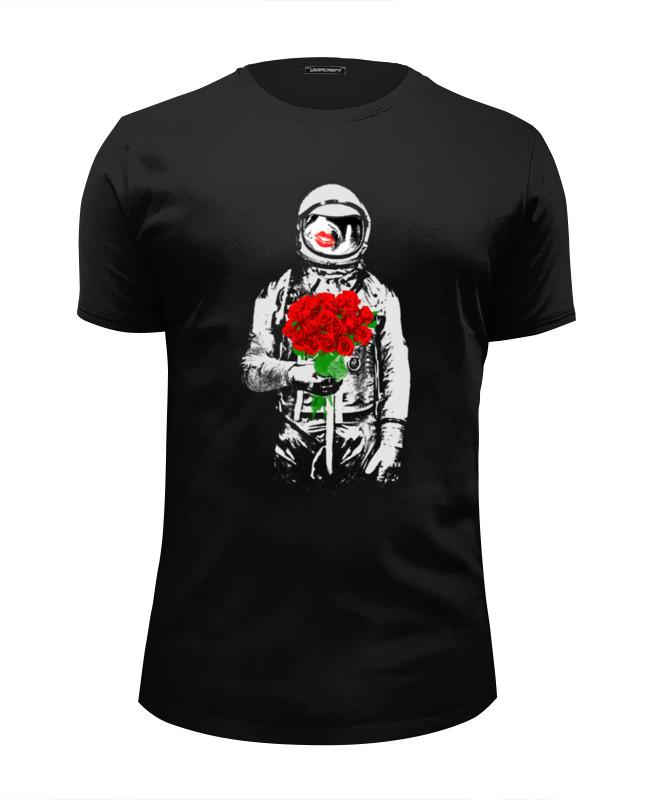 Футболка Wearcraft Premium Slim Fit Printio Букет красных роз