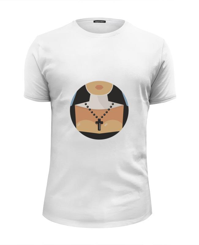 Футболка Wearcraft Premium Slim Fit Printio Монашка ���������������� wearcraft premium slim fit printio ���������� ����������