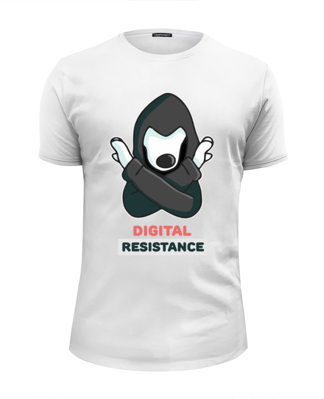 Футболка Wearcraft Premium Slim Fit Printio digital resistance resistance chile