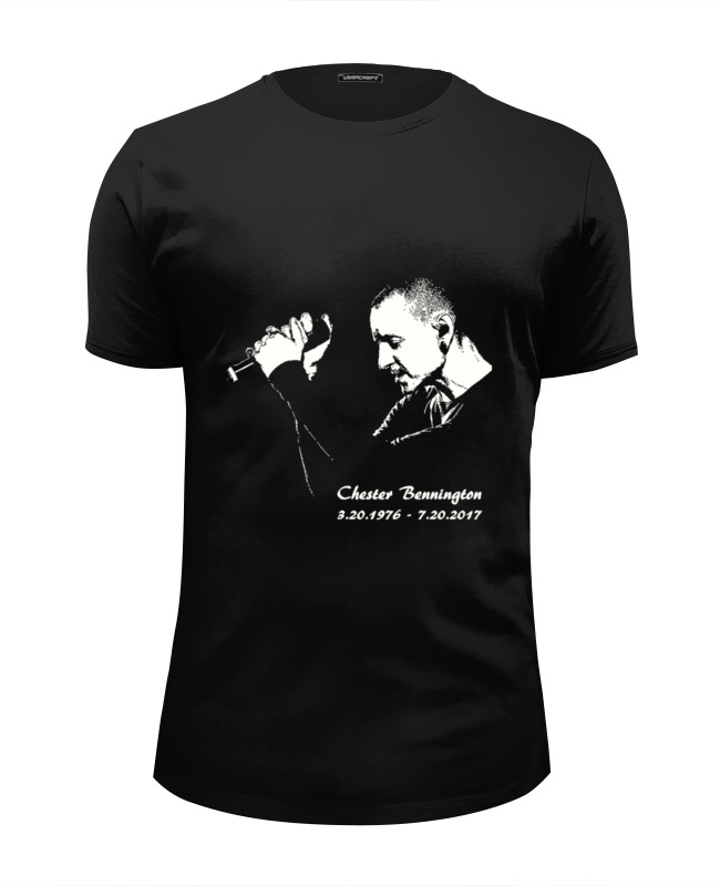 Футболка Wearcraft Premium Slim Fit Printio Chester - linkin park футболка классическая printio chester linkin park