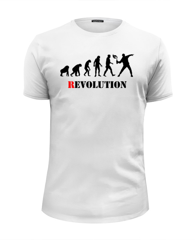 Футболка Wearcraft Premium Slim Fit Printio Evolution - revolution футболка wearcraft premium printio the art revolution