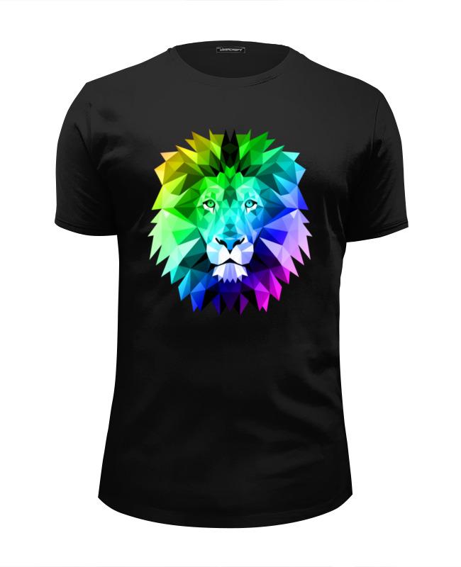 Printio Полигональный лев футболка wearcraft premium slim fit printio полигональный лев