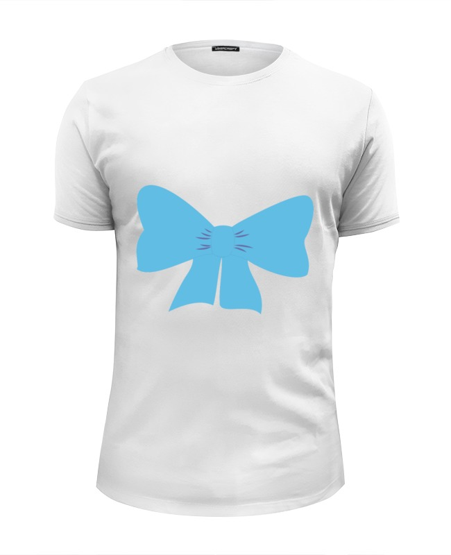 Футболка Wearcraft Premium Slim Fit Printio Голубой бант футболка wearcraft premium printio бант