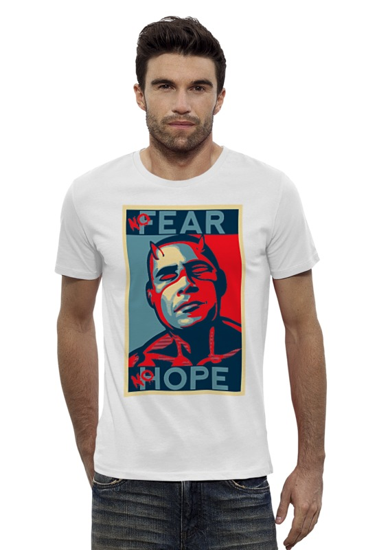 Футболка Wearcraft Premium Slim Fit Printio Обама - no hope футболка wearcraft premium printio barack obama