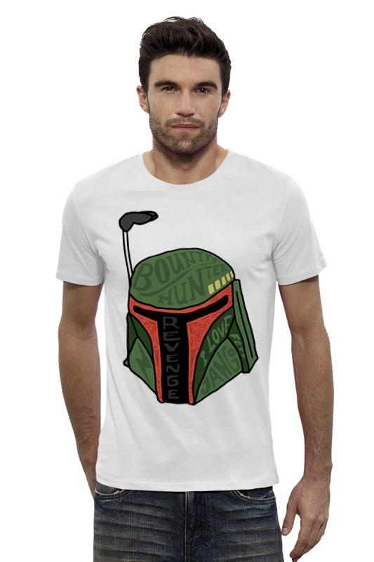 Футболка Wearcraft Premium Slim Fit Printio Boba fett (star wars) футболка wearcraft premium slim fit printio boba fett star wars