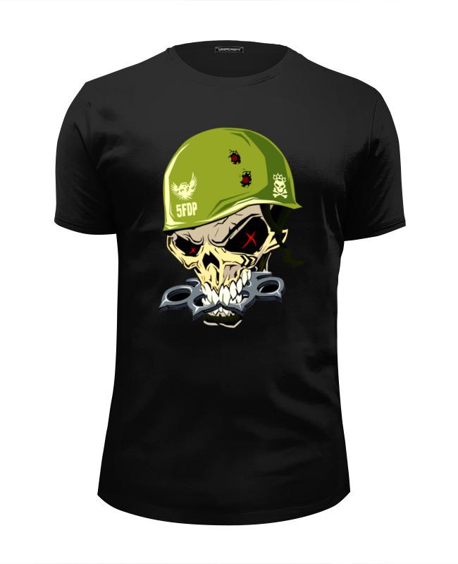 Футболка Wearcraft Premium Slim Fit Printio Military skull футболка wearcraft premium slim fit printio low poly skull