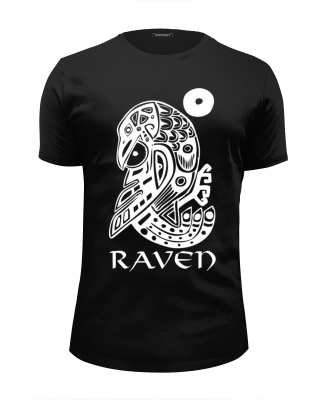 Футболка Wearcraft Premium Slim Fit Printio Raven brand футболка wearcraft premium slim fit printio добро пожаловать