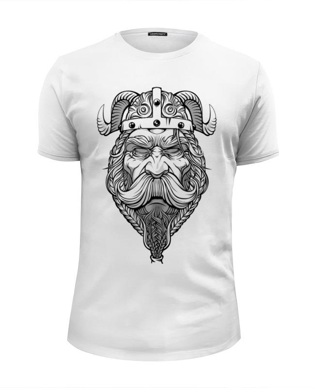 Футболка Wearcraft Premium Slim Fit Printio Старый викинг - мудрый воин! футболка wearcraft premium slim fit printio старый викинг мудрый воин