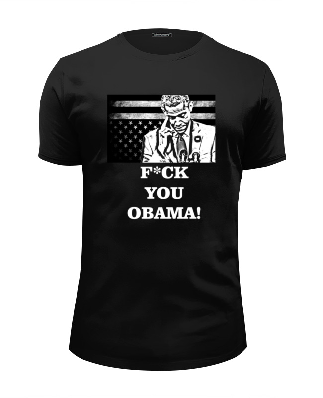 Футболка Wearcraft Premium Slim Fit Printio F*ck you obama! бордюр atlas concorde brave pearl spigolo 1x20