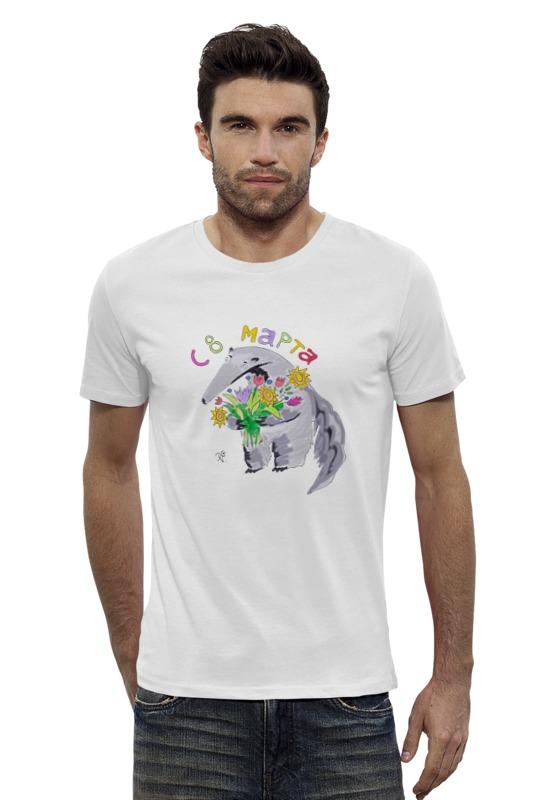 Футболка Wearcraft Premium Slim Fit Printio Праздничный муравьед футболка wearcraft premium printio муравьед с цветами