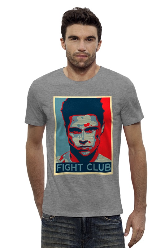 Футболка Wearcraft Premium Slim Fit Printio Tyler durden (fight club) футболка wearcraft premium printio бойцовский клуб fight club