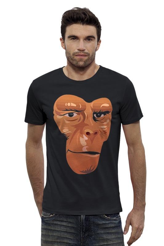 Футболка Wearcraft Premium Slim Fit Printio Обезьяна (планета обезьян) футболка с полной запечаткой для девочек printio планета обезьян planet of the apes